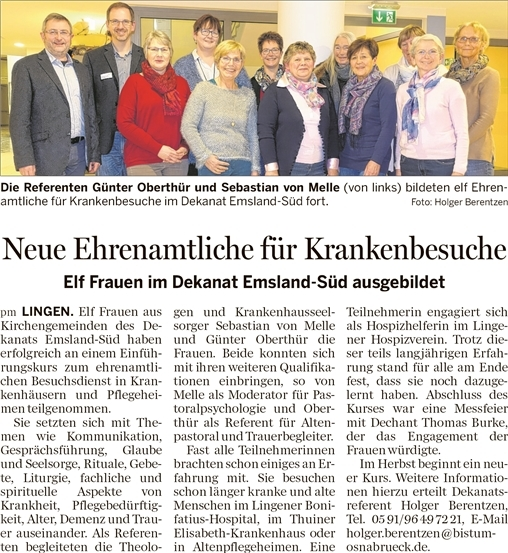 Bonifatius hospital lingen pressespiegel aktuelles und for Spiegel 01 18