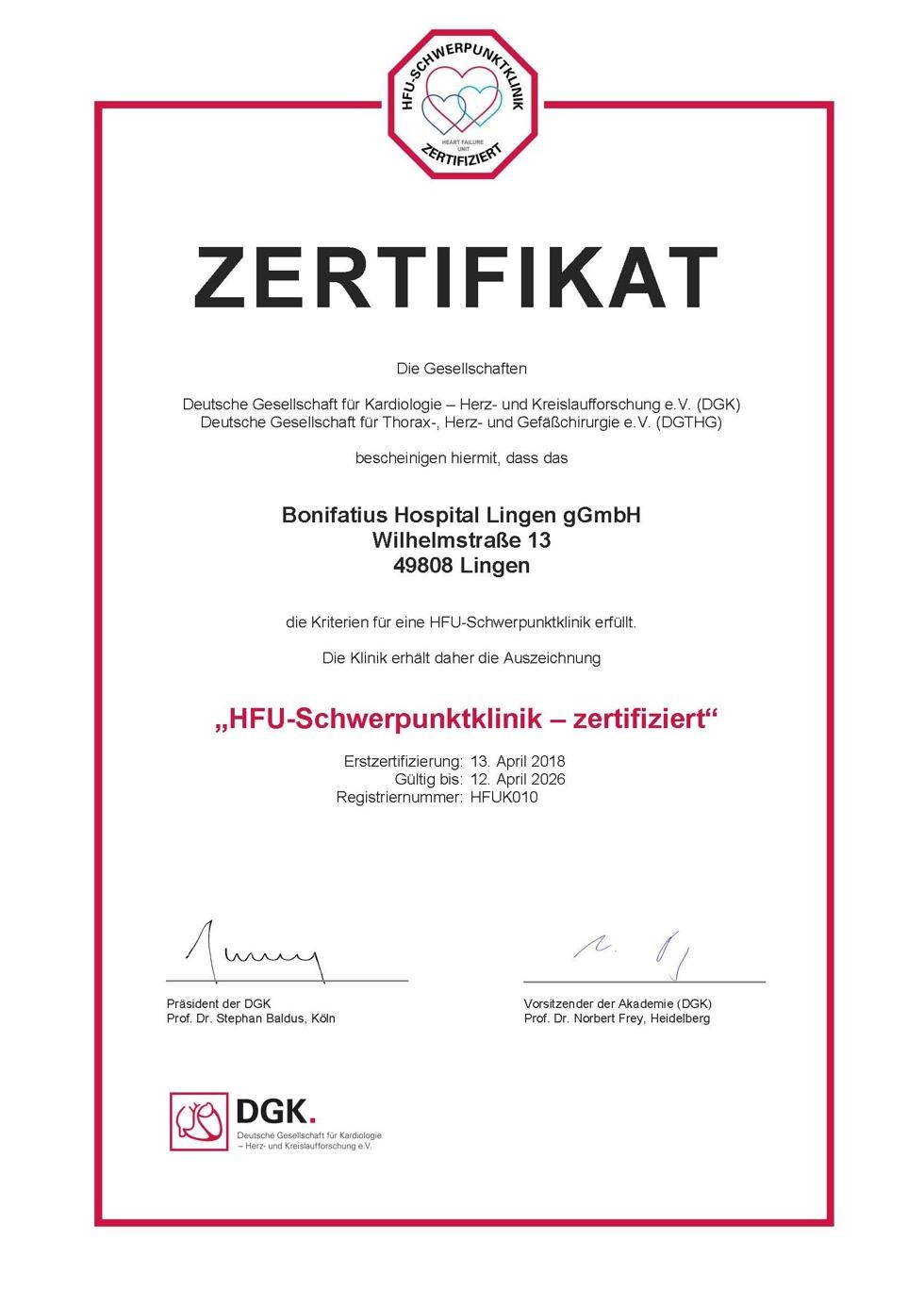 Kardiologie - Bonifatius Hospital Lingen - Emsland - Kardiologie ...